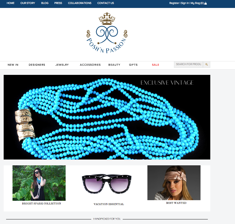 PoshnPassion, an E-shop based in Kuwait offering woman of its region an exclusive shopping experience