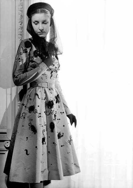 A 1950 embellished dress by Cristobal Balenciaga