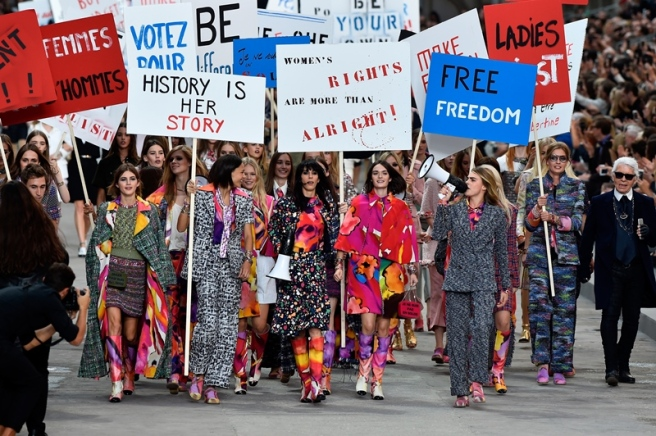 Chanel Protest. S/S15.Paris
